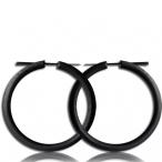 Narra wood colored black,pin earring