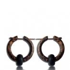 pin earring (Narra wood and palm wood)
