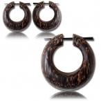 pin earring (palm wood)