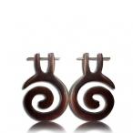 pin earring (black sono wood)