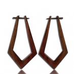 pin earring (Narra wood colored black)