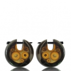 pin earring (brown sono wood with bamboo)