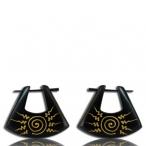 pin earring (Narra wood)