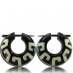 pin earring (horn with bone inlay)