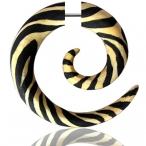 Hand painted wood spiral