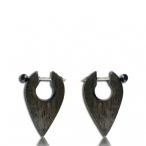black narra wood earring / 316l steel pin