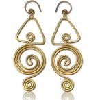 Hand made brass earrings