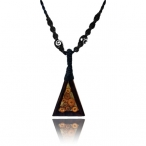 Wood and bamboo necklace