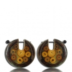 sono wood earring and bamboo/316l steel pin