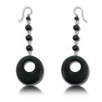 Black sono wood earring