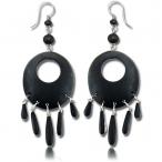 black narra wood earring