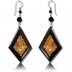 narra wood earring with bamboo