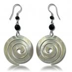 Shell spiral earring