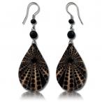 Shell resin earring