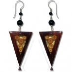 Bamboo and wood earring