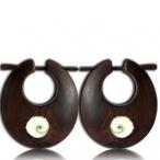 Sono wood with shiva eye earring