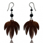 Coco-nut earring with 316L steel hook