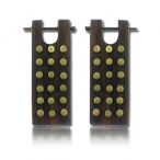 sono wood earring with bronze inlay, wood-pin