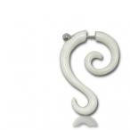 White bone, spiral hook